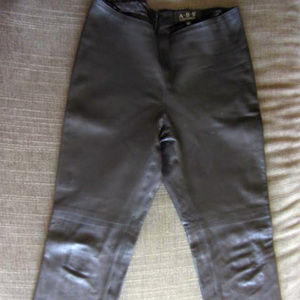 Soft Black Boot Cut Genuine Leather Pants Size 10